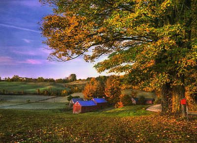 Jenne Farm - Autumn In New England Poster by Joann Vitali