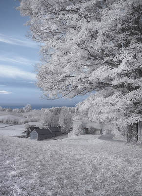 Jenne Farm Vermont In Infrared Poster by Joann Vitali