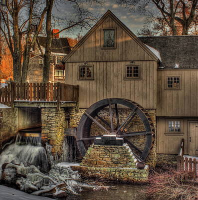 Jenney Grist Mill Poster by Jack Costello