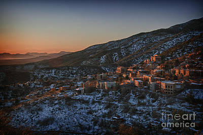 Poster featuring the photograph Jerome Sunrise From Sunshine Hill by Ron Chilston