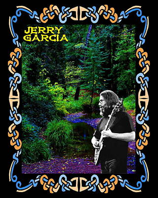 Poster featuring the photograph Jerry At Psychedelic Creek by Ben Upham