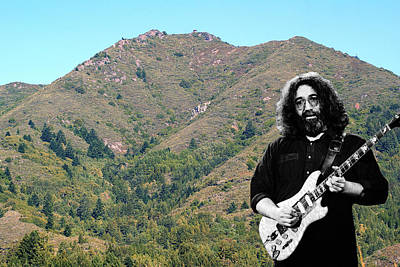 Poster featuring the photograph Jerry Garcia And Mount Tamalpais by Ben Upham III