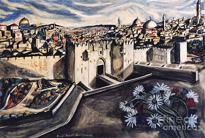 Jerusalem From The Damascus Gate Poster