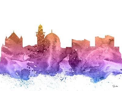 Jerusalem Poster by Watercolor Girl