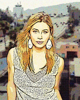 Jessica Biel 2 Poster by Lanjee Chee