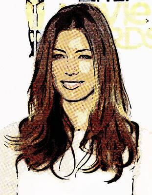 Jessica Biel Poster by Lanjee Chee