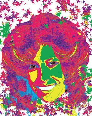 Jessica Biel Pop Art Poster by Dalon Ryan
