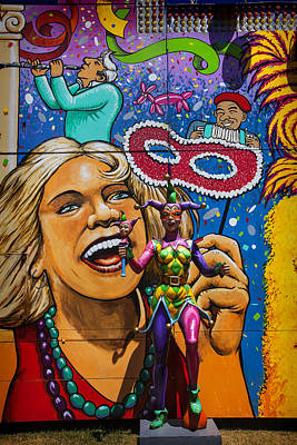 Jester Statue At The Fair Poster by Garry Gay