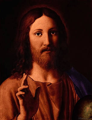 Poster featuring the digital art Jesus Christ by A Samuel