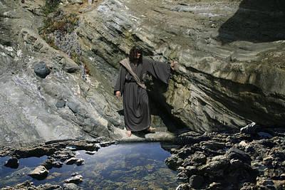 Jesus Christ At The Pond Poster