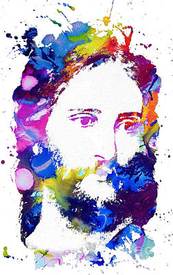 Jesus Christ - Watercolor Poster by Doc Braham