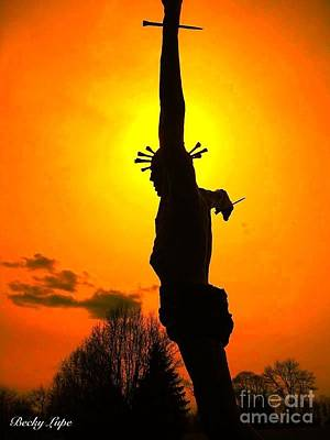 Jesus In Sunset 1 Hope Poster by Becky Lupe