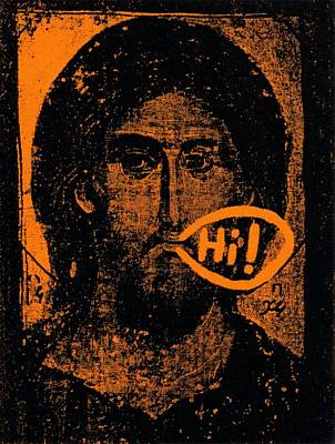 Poster featuring the painting Jesus Says Hi by Patrick Morgan