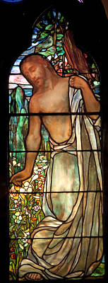 Jesus Stained Art - St Paul's Episcopal Church Selma Alabama Poster by Mountain Dreams