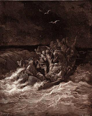 Jesus Stilling The Tempest Poster