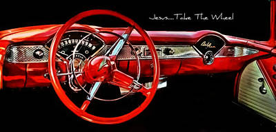 Poster featuring the photograph Jesus Take The Wheel by Victor Montgomery