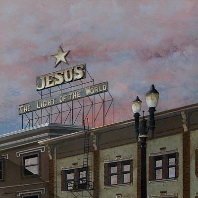 Jesus The Light Of The Word Poster by John Wyckoff