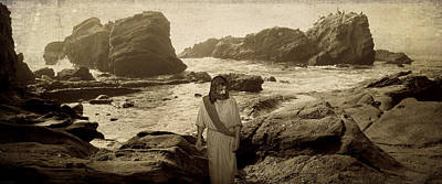 Jesus Walks Among Angels Poster