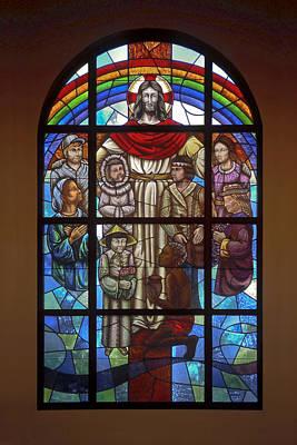 Jesus With Children Window Poster