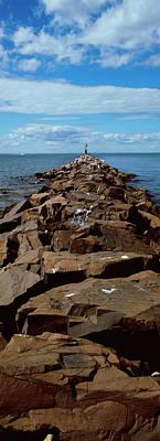 Jetty A Sea, Montauk Point, Montauk Poster