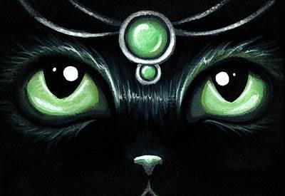 Jeweled Kitty 10 Mint Jade Poster