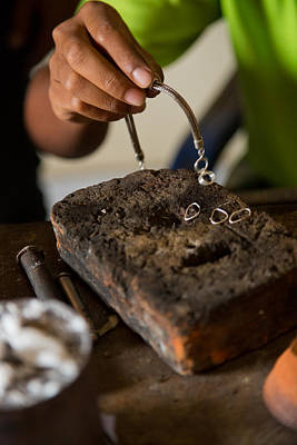 Poster featuring the photograph Jewelry Making - Bali by Matthew Onheiber