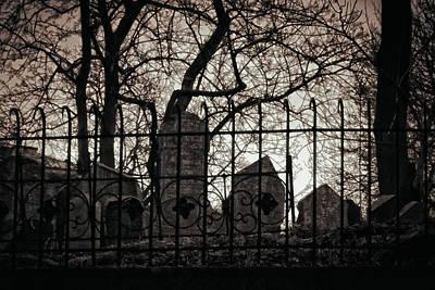 Jewish Cemetery Prague Poster by Joan Carroll