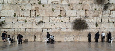 Jews Praying At Western Wall Poster