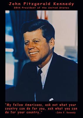 Jfk John F Kennedy Poster