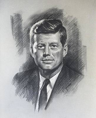 Jfk Portrait Poster
