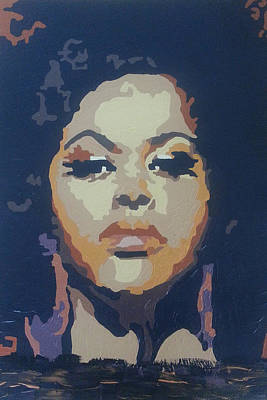 Poster featuring the painting Jill Scott by Rachel Natalie Rawlins