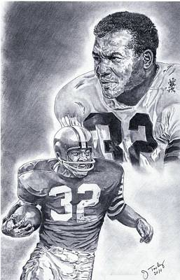 Jim Brown Poster by Jonathan Tooley