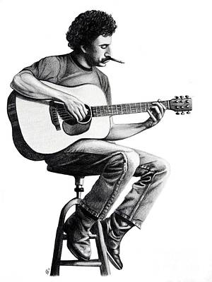 Poster featuring the drawing Jim Croce by Danielle R T Haney