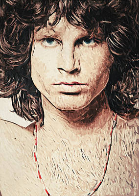 Jim Morrison Poster by Taylan Apukovska
