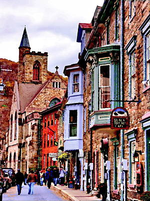 Poster featuring the photograph Jim Thorpe Pa Stone Row by Jacqueline M Lewis