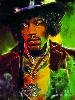 Jimi 1 Poster by Paul Green