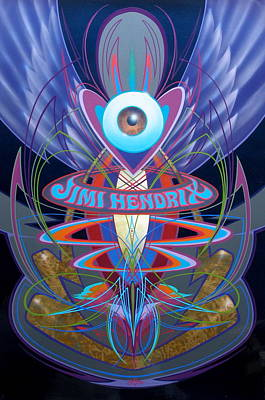 Jimi Hendrix Memorial Poster by Alan Johnson