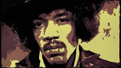Jimi Hendrix Portrait Art Poster by Florian Rodarte
