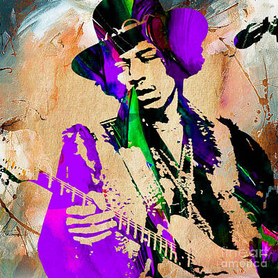 Jimi Hendrix Purple Haze Painting Poster by Marvin Blaine