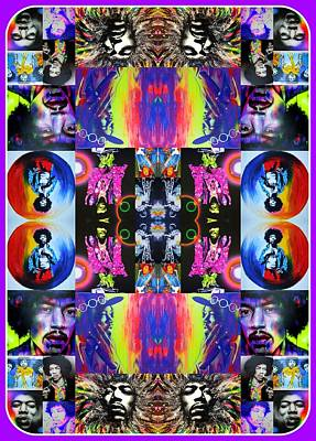 Jimi Hendrix - ' Jimi Kaleidoscope I ' Poster