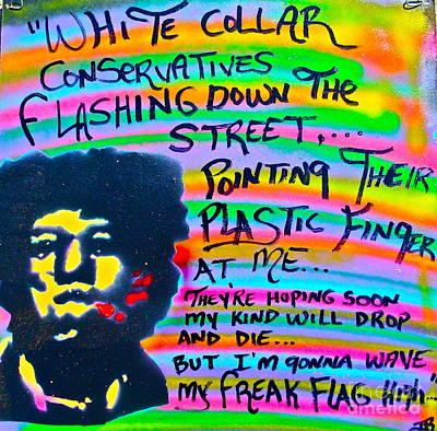 Jimi's Freak Flag Poster by Tony B Conscious