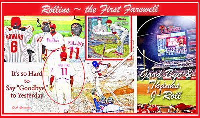 Jimmie Rollins Farewell Poster