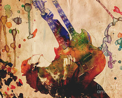 Jimmy Page - Led Zeppelin Poster by Ryan Rock Artist