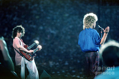 Jimmy Page And Robert Plant Poster by Wernher Krutein
