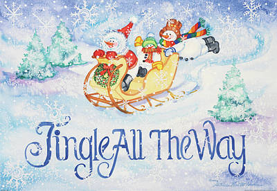 Jingle All The Way Poster by Kathleen Parr Mckenna