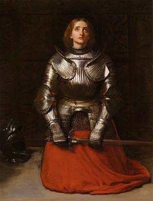 Joan Of Arc Poster by John Everett Millais