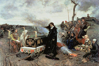 Joanna The Mad Accompanying The Coffin Of Philip The Handsome Poster by Francisco Pradilla y Ortiz