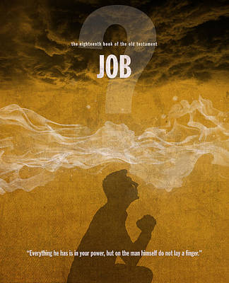 Job Books Of The Bible Series Old Testament Minimal Poster Art Number 18 Poster by Design Turnpike