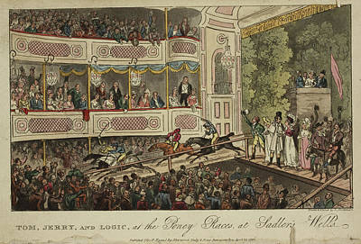 Jockeys Riding Into The Theatre Poster by British Library