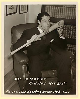 Joe Dimaggio And His Bat Poster by Mountain Dreams